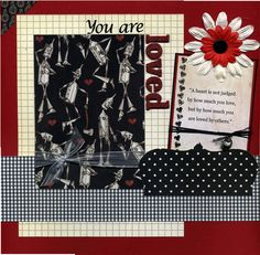 12x12 Premade Scrapbook Page - You Are Loved - Tin Man. $16.95, via Etsy.