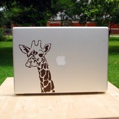 giraffe decal for your laptop. so cute.