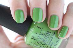 OPI New Orleans I'm Sooo Swamped Green Cream Nail Polish - Summer Nails