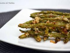 Haricots verts grillés au parmesan