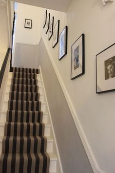 Ideas for the house hallway decorating, hallway designs, hallway colours. Dado Rail Hallway, Grey Hallway, Hallway Paint, Paint Stairs, Long Hallway, Dado Rail Living Room, Entry Hallway, Hallway Ideas Entrance Narrow, Homemade Home Decor