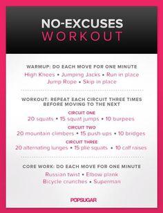 No excuse exercise
