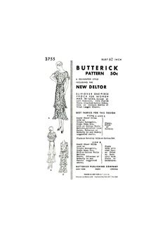 R825R 1931 Vintage VOGUE Sewing Pattern B36 DRESS