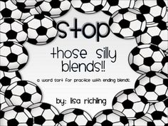 This is a word sort that helps your students recognize the various types of ending blends in words. It also helps them work on blending sounds toge...