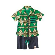 8d5730558 Clashing prints for the little ones in a Hawaiian shirt and stripes by  Harajuku Mini!
