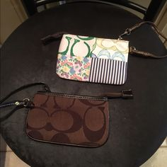 To change purses To change purses with zippers in great condition only used the color one once Bags Cosmetic Bags & Cases