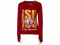 NCAA Womens Andromeda Long Sleeve Slub Vneck T-Shirt