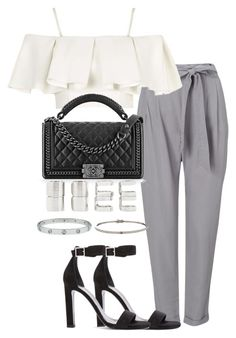 """""""Untitled #2424"""" by theeuropeancloset on Polyvore featuring Phase Eight, Topshop, Yves Saint Laurent, Chanel and Forever 21"""