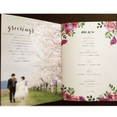 ゲストにふたりを自己紹介♩可愛い『プロフィールブック』のデザインアイデアまとめ♡にて紹介している画像 Wedding Book, Wedding Paper, Wedding Crafts, Wedding Decorations, Wedding Ceremony Programs, Menu Design, Green Wedding, Magazine Design, Wedding Photos