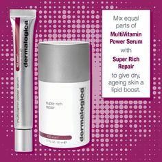 Eliminate Ageing Skin with Dermalogica! Shop Dermalogica AGE Smart MultiVitamin Power Serum - http://www.facialcompany.com.au/Shop/file/Product/cat/78/pid/3672/Dermalogica-Age-Smart-Multivitamin-Power-Serum.htm  For a limited time, receive two bonus trial size products with the purchase of Super Rich Repair 50ml. Valued at 137.50 dollars - http://www.facialcompany.com.au/Shop/file/Product/cat/160/pid/18/Dermalogica-Age-Smart-Super-Rich-Repair-Bonus.htm