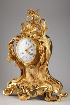 #Bracket #clock in #ormolu Louis XV Style signed #Julien #Leroy and dated September 27, 1864. Marked on the back of the dial-plate SAGARD in Paris and numbered 2028. #19th century. For sale on Proantic by Galerie Atena.