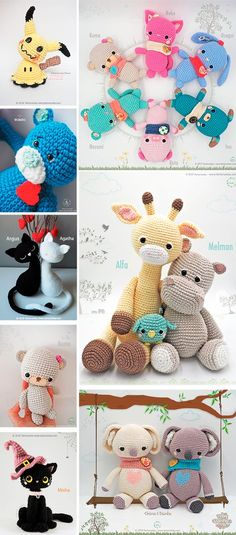 ❤️❤️❤️❤️❤️❤️❤️Amigurumi Patrón: El hipopótamo Melman y su amigo Pi - Tarturumies Crochet Patterns Amigurumi, Crochet Dolls, Valentine Special, Crochet Animals, Stuffed Toys Patterns, Single Crochet, Crochet Projects, Teddy Bear, 2nd Anniversary