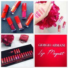 Giorgio Armani is launching a line of 18 pigmented liquid matte lipsticks - Lip Magnets - in Nov'16.
