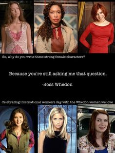Thank you, Joss Whedon, for helping change the status quo...because the status is not quo.<<<I understood that reference