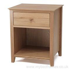 Solid Oak #BedsideTable from MyBedFrames.co.uk