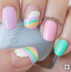Try some of these designs and give your nails a quick makeover, gallery of unique nail art designs for any season. The best images and creative ideas for your nails. Spring Nail Art, Nail Designs Spring, Spring Nails, Nail Art Designs, Nails Design, Nail Designs For Kids, Funky Nail Designs, Spring Art, Trendy Nail Art