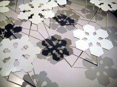 Beautiful Snowflake Shaped Tables,Each And Every Table Is Unique.  Literally. According To