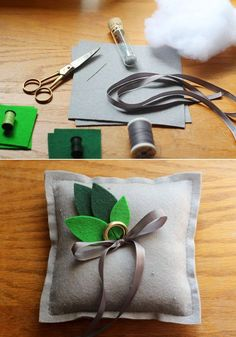 Felt Ringbearer's Pillow | 37 Things To DIY Instead Of Buy For Your Wedding