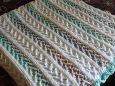 Arrow Stitch Crochet Afghan Pattern | FaveCrafts.com by rosanne
