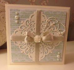 Filigree corners from spellbinders/amazing paper grace. Prima papers