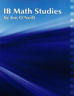 IB Math Studies (Standard Level) is designed specifically for out-of-field instructors or teachers new to the IB curriculum. The course caters for students with varied backgrounds and abilities. ISBN: 9781596573918