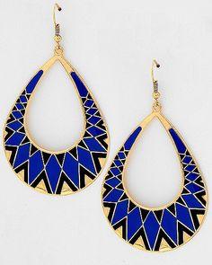 Black & Blue Tear Drop Dangle #Earrings $5 rbelleboutique.com