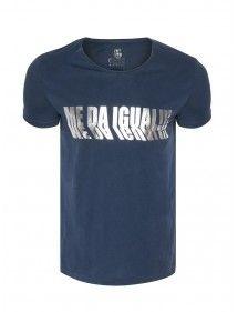 MedaIgual camiseta texto | navy