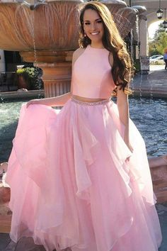 Customized Cute 2019 Prom Dresses Princess Two Piece Pink Long Prom Dress With Open Back Pink Prom Dresses, Long Prom Dresses, Prom Dresses, Cute Prom Dresses, Open Back Prom Dresses Prom Dresses 2019 Prom Dresses Long Pink, African Prom Dresses, Princess Prom Dresses, Open Back Prom Dresses, Prom Dresses For Teens, Elegant Prom Dresses, Prom Party Dresses, Homecoming Dresses, Formal Dresses