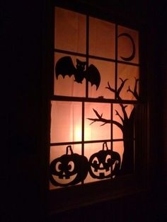 $3.00 Halloween window decoration DIY