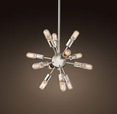 """Sputnik Filament Chandelier 21"""""""