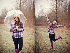 Cool pics for senior pictures in the rain!