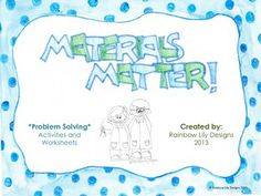 Teach young students about properties of materials using fun problem solving worksheets and experiments. Examples of classroom use included in pack. Kindergarten Units, Problem Solving Activities, Material World, Properties Of Materials, Geography, Worksheets, Students, Classroom, The Unit