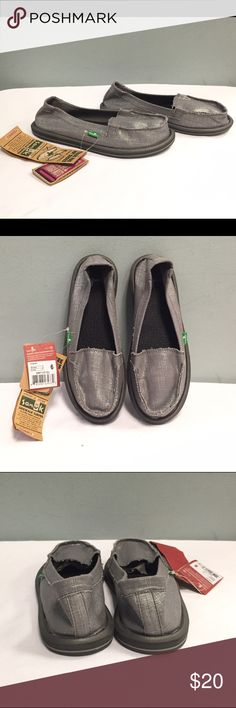 """NWT Women's Sanuk """"Ohm My"""" Slip On Shoes, Size 6 New with tags, excellent condition. Made with real yoga mats. Will review all offers! Sanuk Shoes Espadrilles"""
