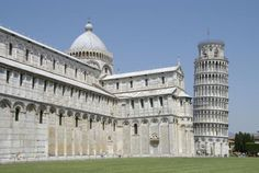 Cathedral and Campanile, begun c. 1063 and completed in 1174, Pisa, Italy (Romanesque, Medieval Art c. 1050-1200 AD)