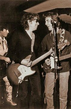 Bob Dylan and George Harrison.