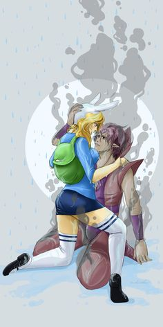 Adventure Time - Fionna and Flame Prince. Cartoon Tv Shows, Couple Cartoon, Cartoon Games, Adventure Time Girls, Adventure Time Anime, Marceline, Adveture Time, Flame Princess, Jake The Dogs