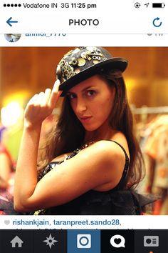 India fashion week  Embossed hat