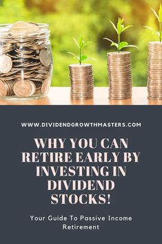 7 surprising benefits of dividend investing. Did you know that dividend investing can allow you to retire early by living off a stable passive income stream? Dividend growth investing (DGI) is the ultimate strategy for those that want true financial freed Investing For Retirement, Early Retirement, Military Retirement, Retirement Cards, Value Investing, Investing Money, Drip Investing, Stock Market For Beginners, Dividend Investing