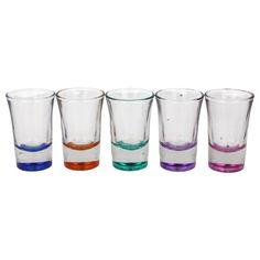 RAVENHEAD SET OF 10 COLOURED SHOT GLASSES 4 CL STYLE - 0040.326