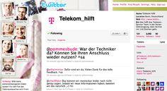 Telekom_hilft – Kundenservice per Twitter  Das Telekom-Service Team – in der festen Überzeugung, dass Service mit 140 Zeichen geht