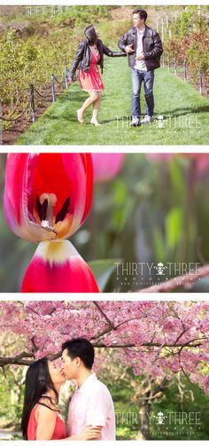 NYC Engagement Photos; Brooklyn Botanic Garden Engagement Photos ; New York City Wedding Photographer; Thirty Three Photography, inc; Fun Engagement Photos  #NYCEngagementphotos
