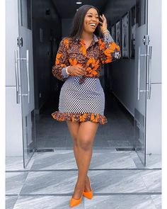 African Clothing for Women Ankara Shirt African Print Skirt Mini Skirt Africa Dress African fas African Fashion Ankara, Latest African Fashion Dresses, African Print Fashion, Africa Fashion, African Ankara Styles, African Women Fashion, African Print Clothing, African Prints, African Style