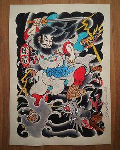 #susanoo #painting #pintura #illustration #ilustração #watercolor #aquarela #japaneseart #japanesetattoo #irezumi #japanesetattooartist #tattooflash #tattoolife #tattooart #brasil #deneka #horiden #彫電 #我慢