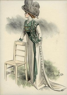 1910 vintage fashion illustration - Google Search