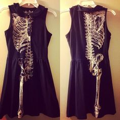 Iron fist dress with skeleton print. Light fading. Size Medium. $30 #forsale #inselly
