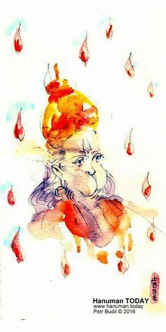 Monday, April 18, 2016 http://www.hanuman.today/product/april-18-2016/  Daily drawings of Hanuman / Hanuman TODAY / Connecting with Hanuman through art / Artwork by Petr Budil [Pritam] www.hanuman.today