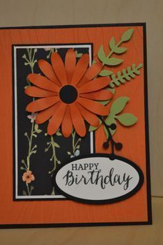 Lovely Tangelo Daisy by Li-lael - Cards and Paper Crafts at Splitcoaststampers
