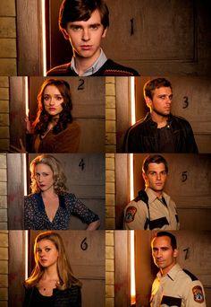 Season one bates motel characters Dylan Bates Motel, Norman Bates Motel, Bates Motel Cast, Bates Motel Tv Show, Bates Motel Characters, Freddie Highmore Bates Motel, Norma Bates, Shaun Murphy, Tv Series 2013