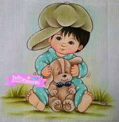 Pintura em tecido para bebês | meninos | fraldas | foto de polly pinturas Facebook