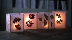 Cheap Fall Craft Idea: How to Make Leaf Lanterns with Wax Paper.Var.patterned tissue between two layers wax paper.